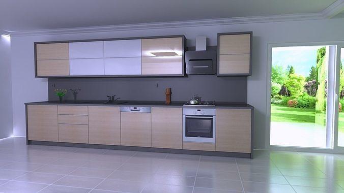 modern in 3d kitchen from adeko and render by adeko 3d model dwg 1