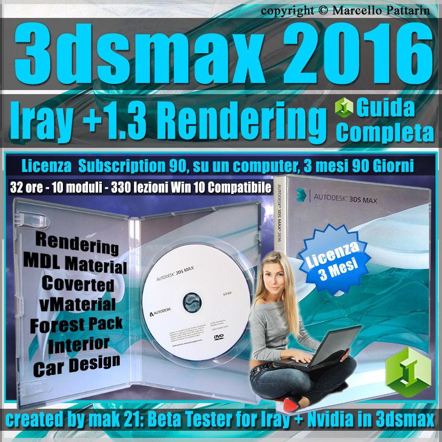 Iray  Upgrade 1 3 3ds max 2016 Guida Completa  3 mesi
