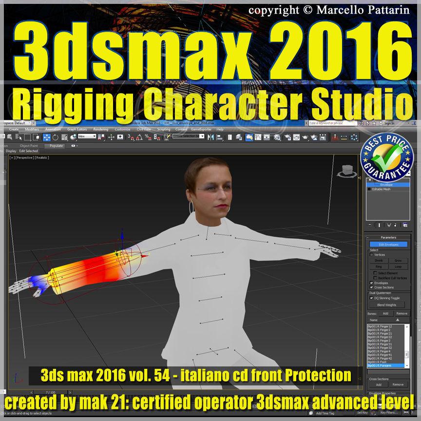 054 3ds max 2016 Rigging Character Studio vol 54 cd front