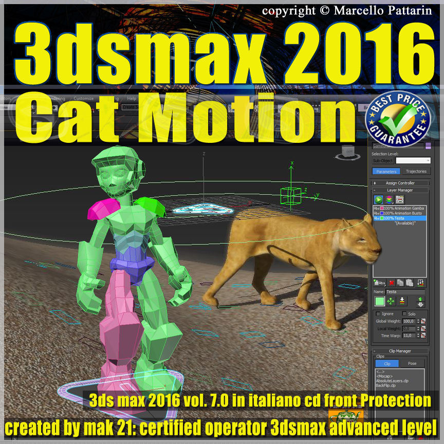 007 3ds max 2016 Cat Motion vol 7 Italiano cd front