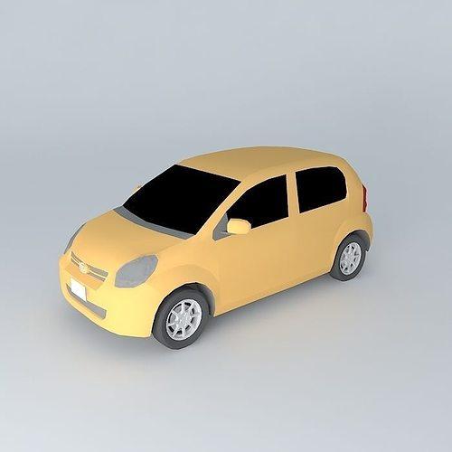 Daihatsu Boon: 2010 Daihatsu Boon Low Poly 3D