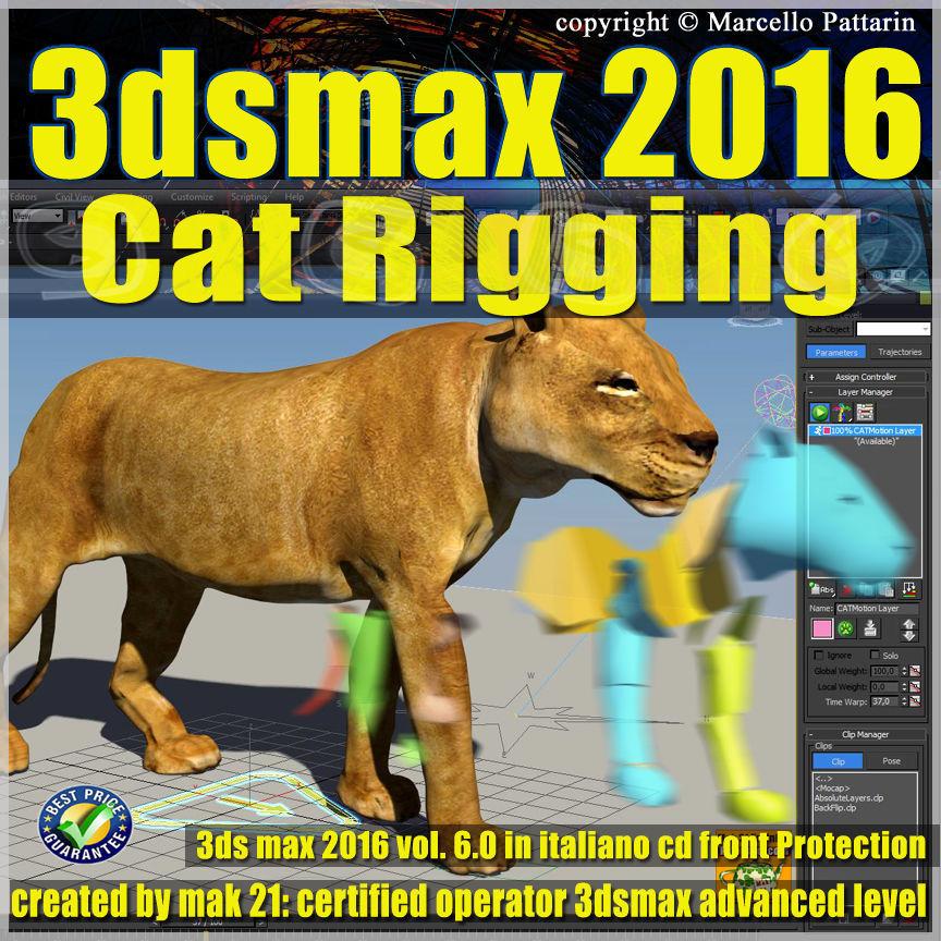 006 3ds max 2016 Cat Rigging volume 6 Italiano cd front