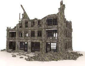 3D model RUINED BUILDING POST APOCALYPSE WAR