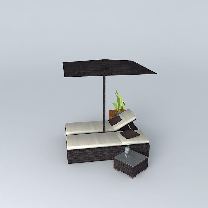 the garden furniture antibes maisons du monde 3d model max obj 3ds fbx stl dae. Black Bedroom Furniture Sets. Home Design Ideas