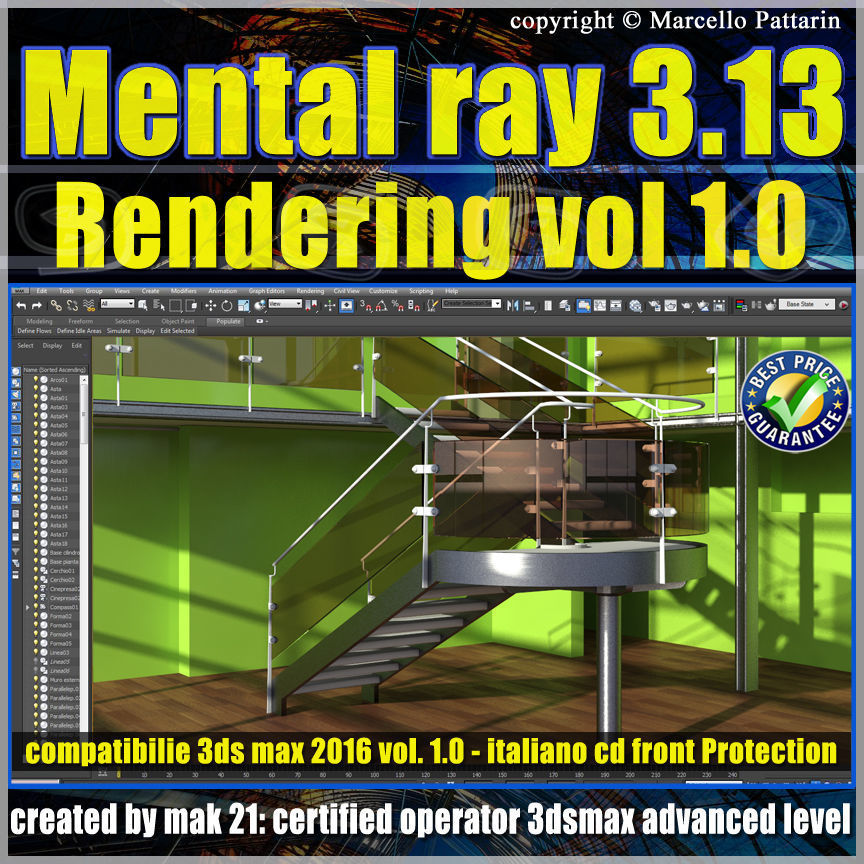 Mental Ray  In 3ds max 2016 Vol 1 Rendering Cd front