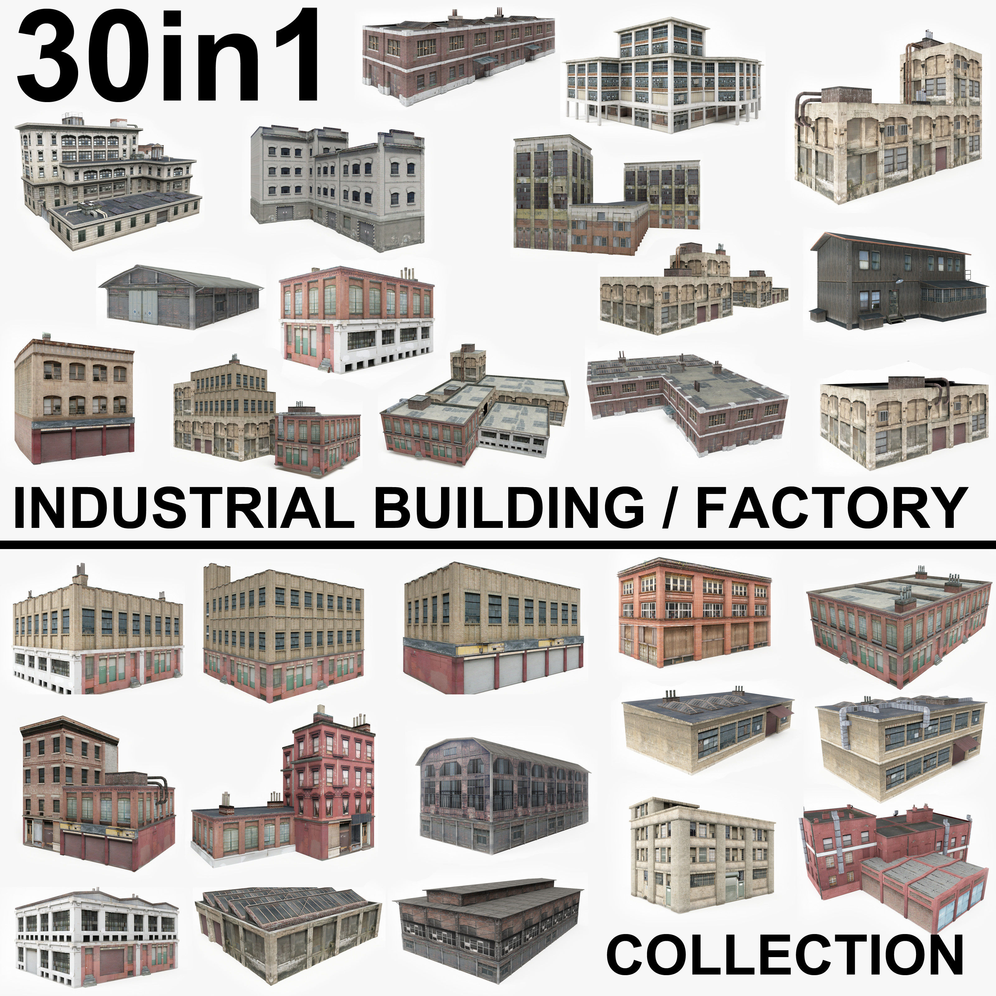 30 Industrial Building  Factory Collection