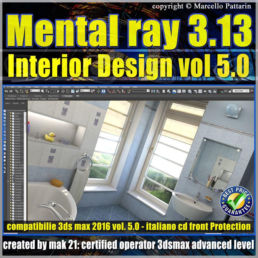 Mental ray in 3dsmax 2016 Vol 5 Interior Design Cd front