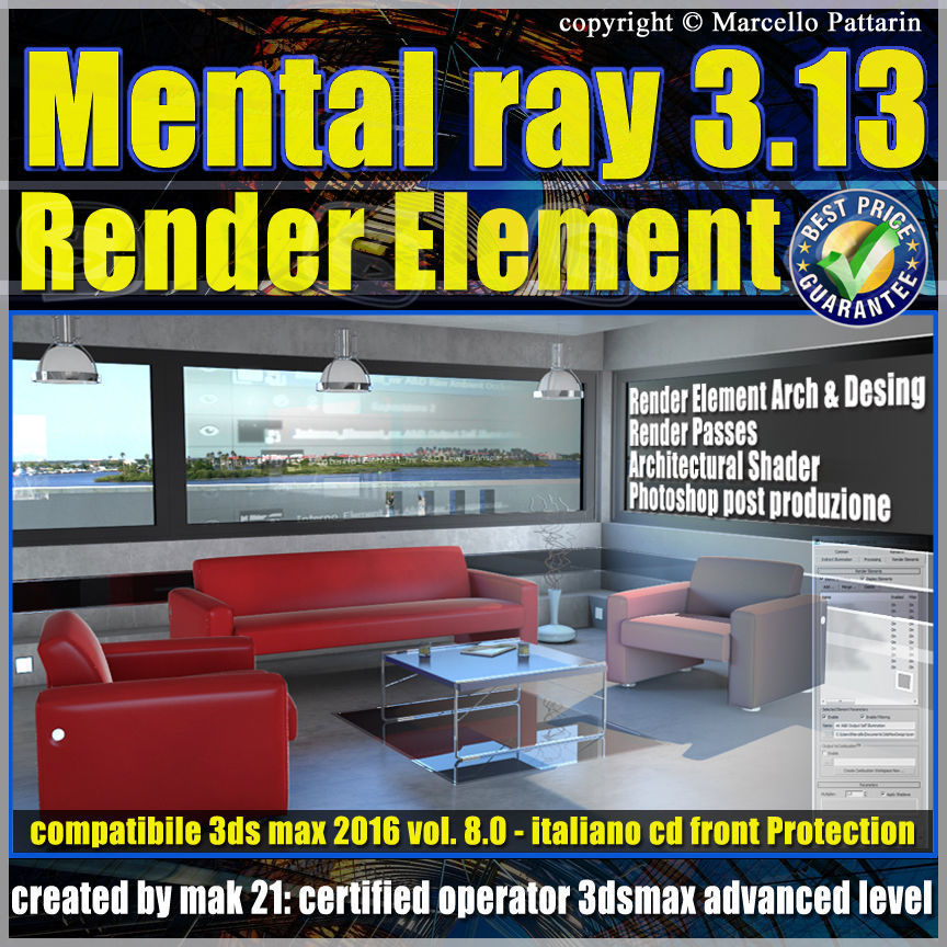 Mental ray  in 3dsmax 2016 Vol 8 Render Element cd front