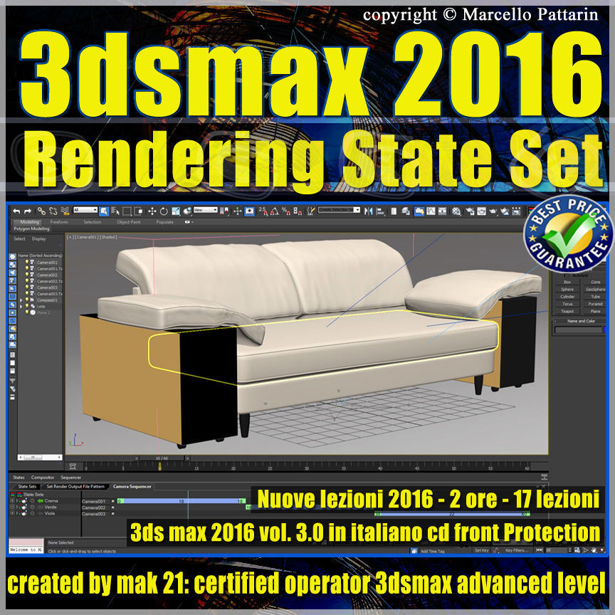 003 3ds max 2016 Rendering State Set vol 3 CD Front