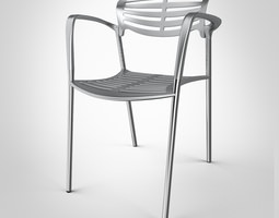 toledo chair by knoll 3d model max obj 3ds fbx