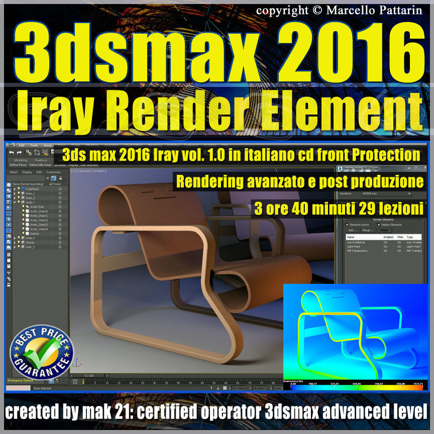 3ds max 2016 Iray Render Element Volume 1 cd front