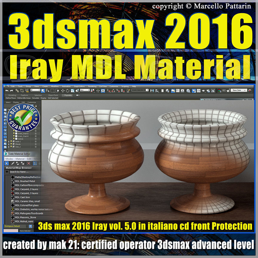 3ds max 2016 Iray MDL Material Volume 5 cd front