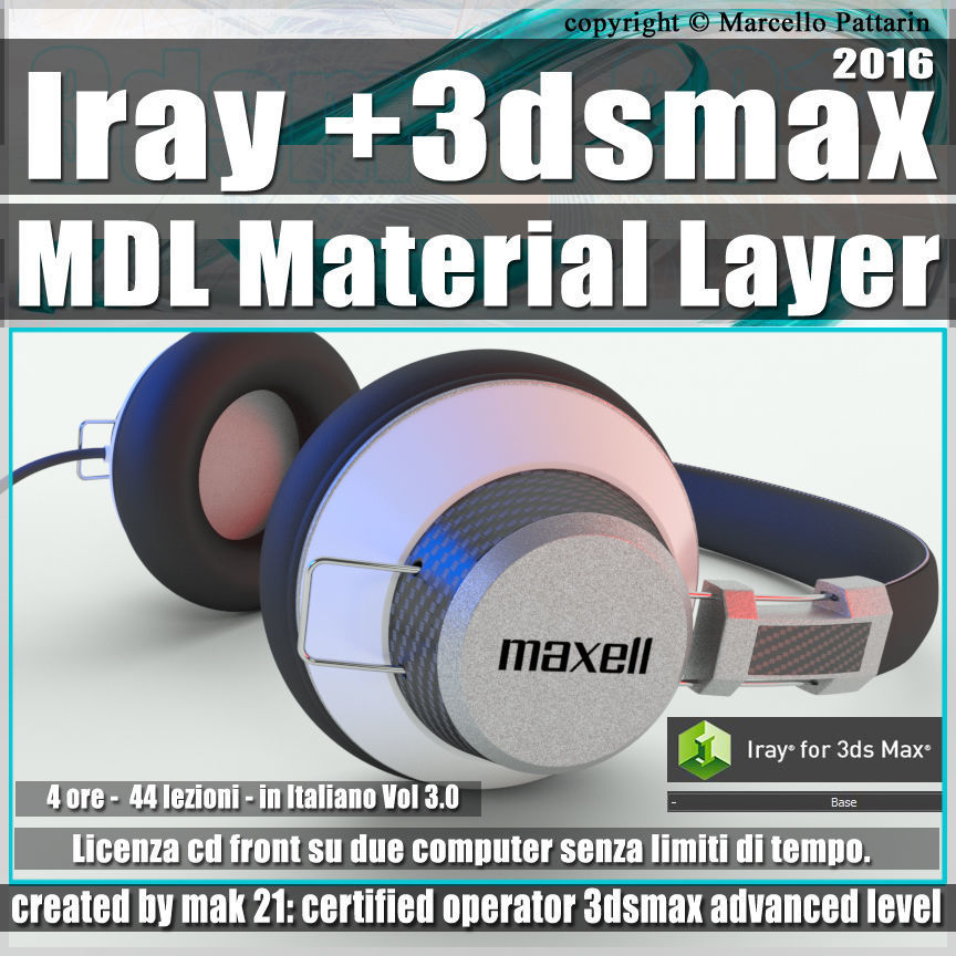 Iray piu in 3dsmax 2016 MDL Material Layer Vol 3 Cd Front