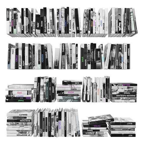 books 150 pieces 2-1-1 3d model max obj mtl fbx stl 1