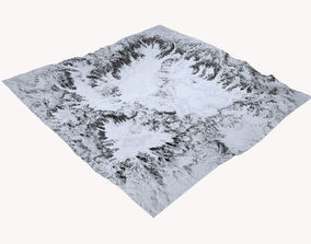 3D model Snowy Terrain MTH088
