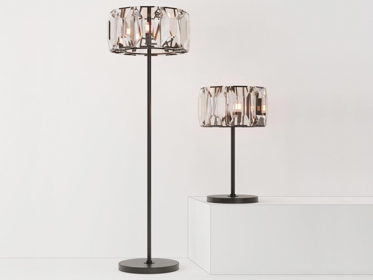 Restoration Hardware Floor Lamps >> Restoration Hardware Harlow Crystal Table Lamp Floor Lamp 3d Model