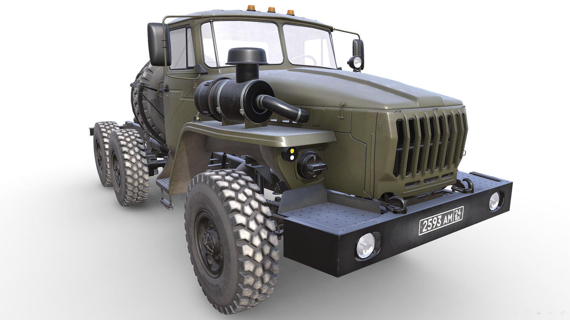 RUSSIAN MILITARY TRUCK URAL-4320