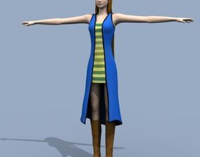 3D Young Woman