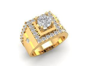 3D print model 1210 Diamond Men Ring