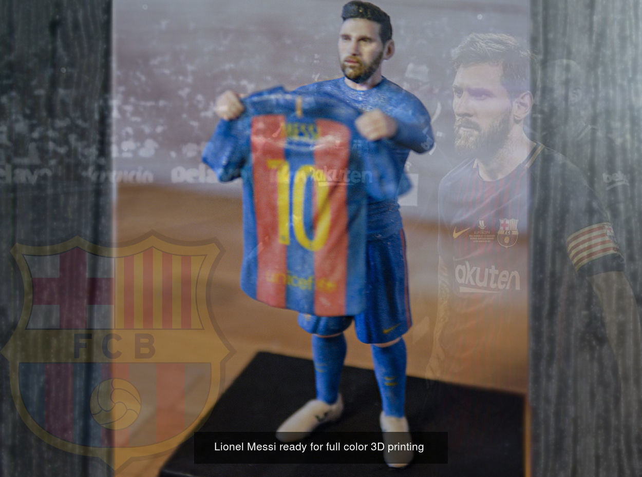 Famous Footballers ready for full color 3D printing