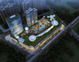 3d model city shopping mall 121