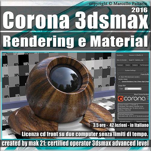 Corona 1 5 in 3dsmax 2016 Rendering e Material Vol 2 Cd Front