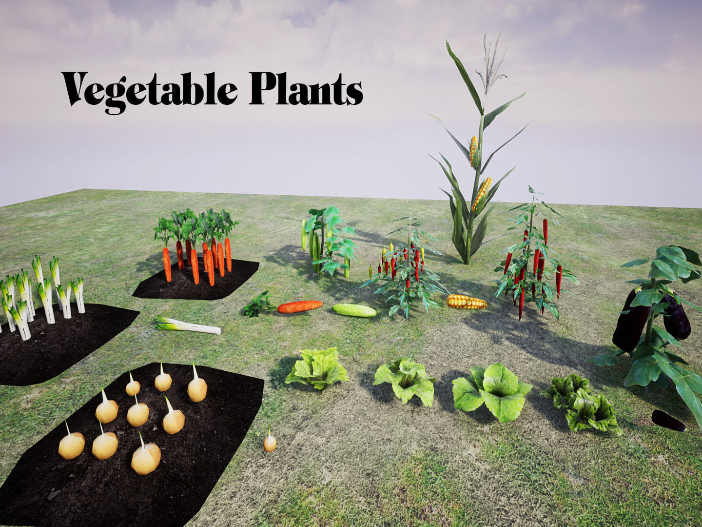 Vegetable Plants for UNREAL