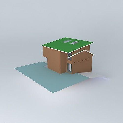 House Design 3d Model Max Obj 3ds Fbx Stl Dae