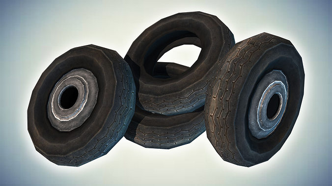 car tires 3d model low-poly max obj mtl 3ds fbx dae tga 1
