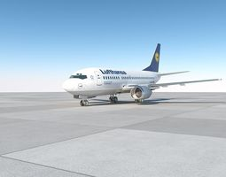 air 3D model B737-500 lufthansa with interior