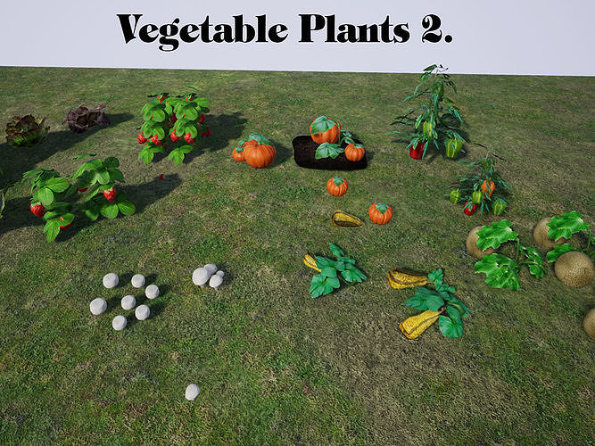 Vegetable Plants 2 for UNREAL