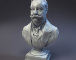us president william howard taft bust v01 3d printable model