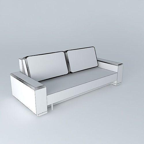 Tribeca white sofa maisons du monde 3d model max obj 3ds - Maison du monde sofa ...