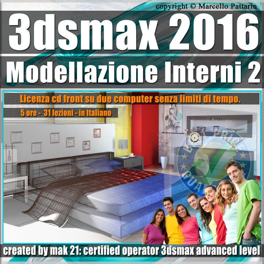 010 3ds max 2016 Modellazione Interni 2 v 10 cd front