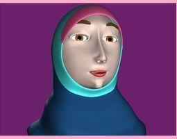 Muslim Woman 3D asset
