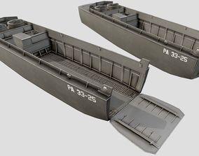 LCVP Landing Craft PBR 3D model