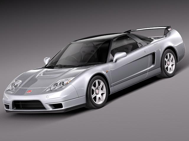 Honda NSX-R 2005 3D model MAX OBJ 3DS FBX C4D LWO