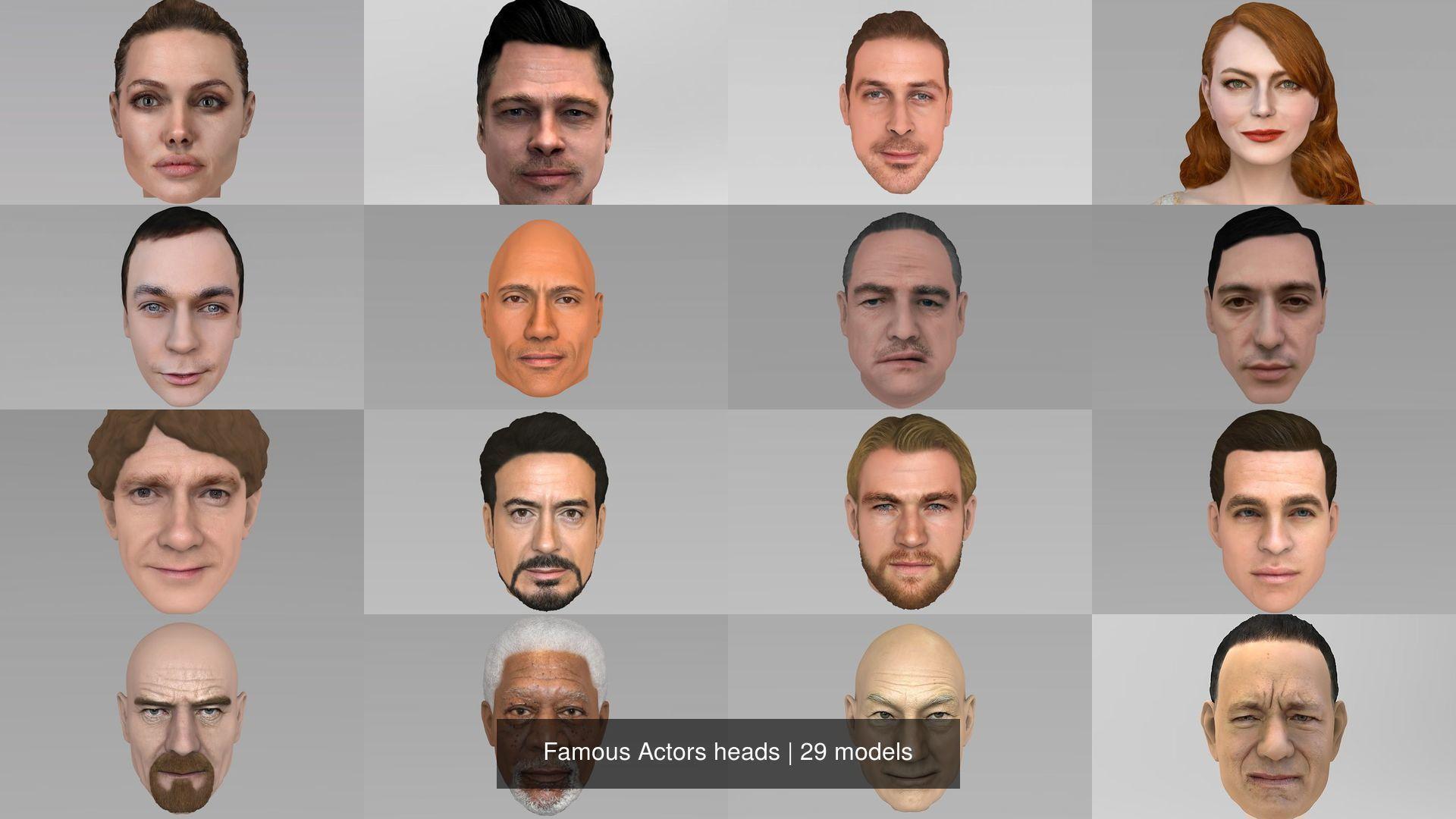 Famous Actors heads