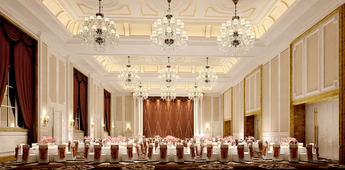 3d Model Luxury Dining Hall Cgtrader