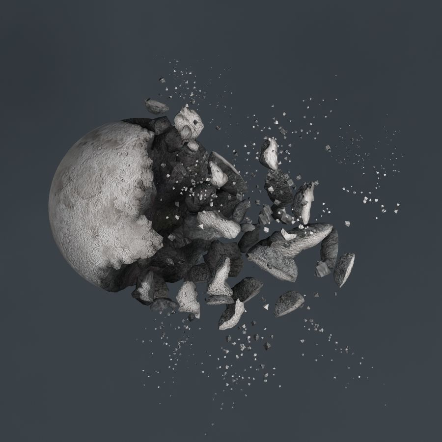 Impact Moon destroyed