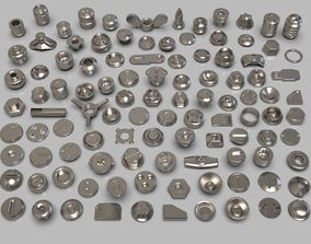 3D model bolts and knobs-part-3 -106 pieces