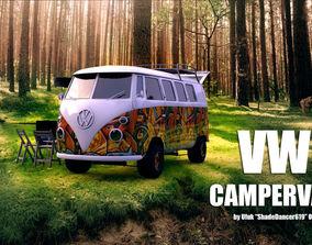 VW Camping Bus 3D