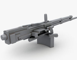 low-poly Soviet machine gun WW2 3D Model