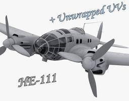He 111 German bomber WW2 3D Model