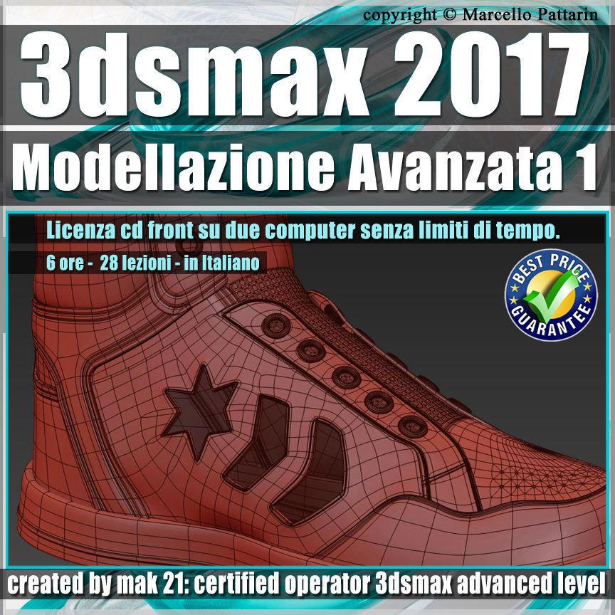 023 3ds max 2017 Modellazione Avanzata 1 v23 Italiano cd front