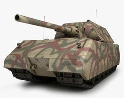 Maus German tank 1 3D Model