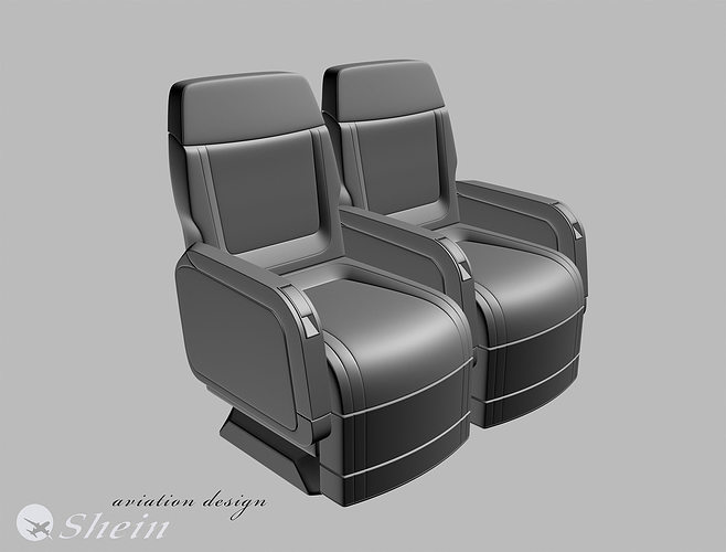 airplane seat of vip class 3d cgtrader