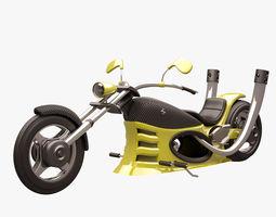Chopper 004 Yellow CARBON 3D model