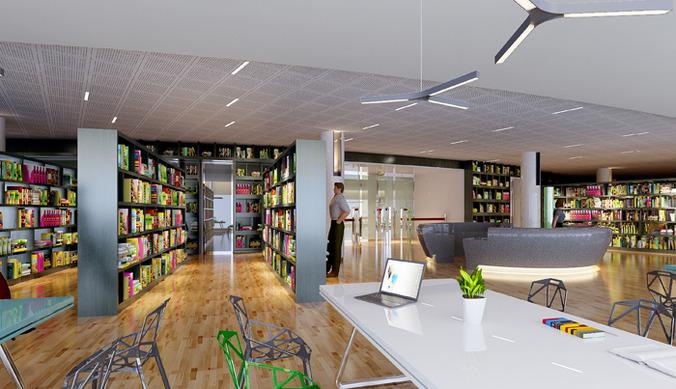 public library 3d model max