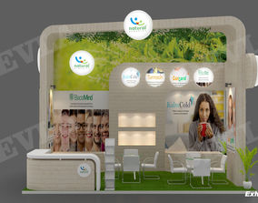 Exhibition stand 09 3D model business